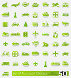 Set of transport stickers Royalty Free Stock Photo