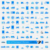 Set of transport stickers Stock Photos