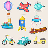 Set of transport toy. Stock Photography