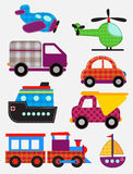 Set of transport toys Stock Images