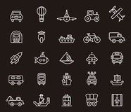 Set of transportation icons Royalty Free Stock Images