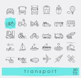Set of transportation icons. Royalty Free Stock Photos