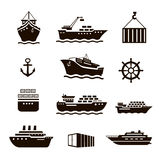 Set of transportation and shipping icons Stock Photography