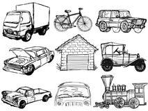 Set of transportation Stock Photography