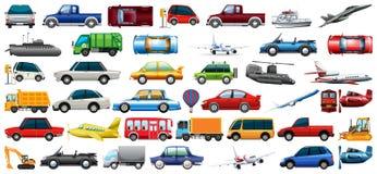 Set of transportation vehicle stock illustration