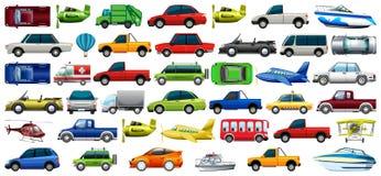 Set of transportation vehicle royalty free illustration
