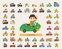 Set of transporter characters. Eps10 vector format Royalty Free Stock Photos