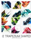 Set of trapezium geometric shape backgrounds Royalty Free Stock Photo