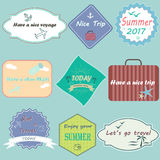 Set of travel badges Royalty Free Stock Images