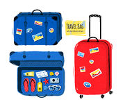 Set of travel bag and suitcases Royalty Free Stock Photo