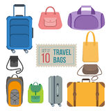 Set of travel bags Royalty Free Stock Photo
