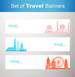 Set of travel banners Royalty Free Stock Photography