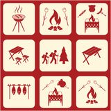 Set of travel and camping equipment icons. Vector illustration Royalty Free Stock Image