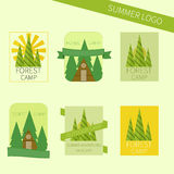 Set of travel and camping logo. Outdoor emblems Royalty Free Stock Photography
