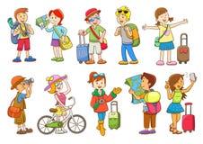 Set of  travel cartoon character Stock Photo