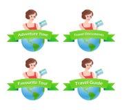 Set of Travel emblem Stock Photography