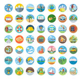 Set of Travel Icon Flat Design Stock Photo