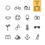 Set of travel icon. Royalty Free Stock Photo