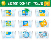Set travel icons Stock Photography