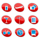 Set of travel icons Stock Photo