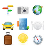 Set of travel icons Stock Images