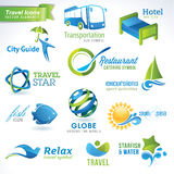 Set of  travel icons Royalty Free Stock Images