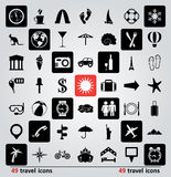 Vector set of travel icons Stock Photos
