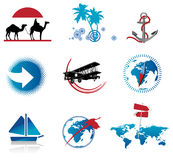 Set of Travel Icons. Vector illustration