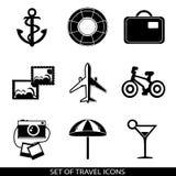 Set of travel icons Royalty Free Stock Photos