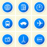 Set of travel icons Royalty Free Stock Image