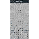 Set of 200 travel icons. Illustration of set of 200 travel icons Stock Photography