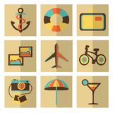 Set of travel icons Stock Photography