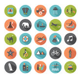 Set of travel icons. Stock Image