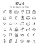 Set of travel icons in modern thin line style. Stock Photography