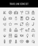 Set of travel icons in modern thin line style. Stock Image
