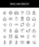 Set of travel icons in modern thin line style. Royalty Free Stock Image