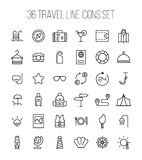 Set of travel icons in modern thin line style. Royalty Free Stock Photo