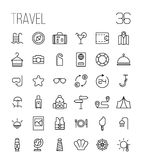 Set of travel icons in modern thin line style. Stock Photo