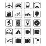 Set of travel icons. 20 travel and transport icons for web and mobile app. Travel and tourism icon set Stock Photography