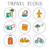 Set of Travel Icons Royalty Free Stock Photo