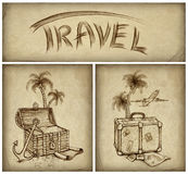 Set of travel illustration Royalty Free Stock Photo