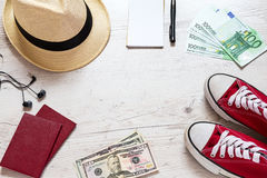 Set of travel stuff Royalty Free Stock Image