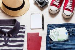 Set of travel stuff Stock Photography
