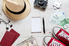 Set of travel stuff Royalty Free Stock Photo