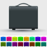 Set of travel suitcases Stock Photo