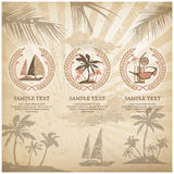 Set of travel symbols vintage Royalty Free Stock Photo