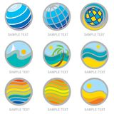 Set of travel and vacation icons Royalty Free Stock Images