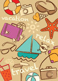 Set travel and vacation,  illustration Stock Image