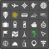 Set of 25 travel web and mobile icons. Vector. Stock Images
