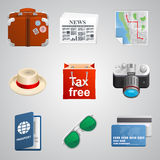 Set traveler icons. Vector Stock Images